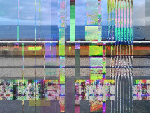 Telling the Landscape The very first glitch art I made, it's not excellent but I love its feel, a bit like an old painting. It's mostly audacity glitch on BMP and TIFF, then some works in photoshop. Also I was a lot inspired by this glitchy music when I made it, it just fits so much with the thing.