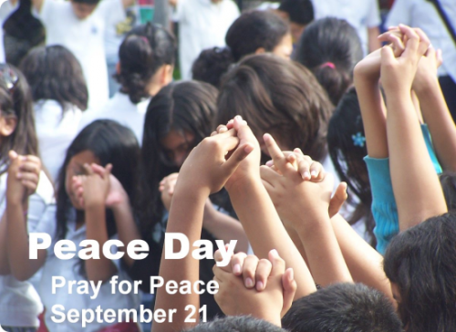 "2012 Peace Day Theme:  ""Praying for Ceasefire""