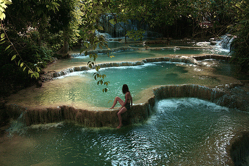 bluepueblo:  Waterfall Pools, Thailand photo via why