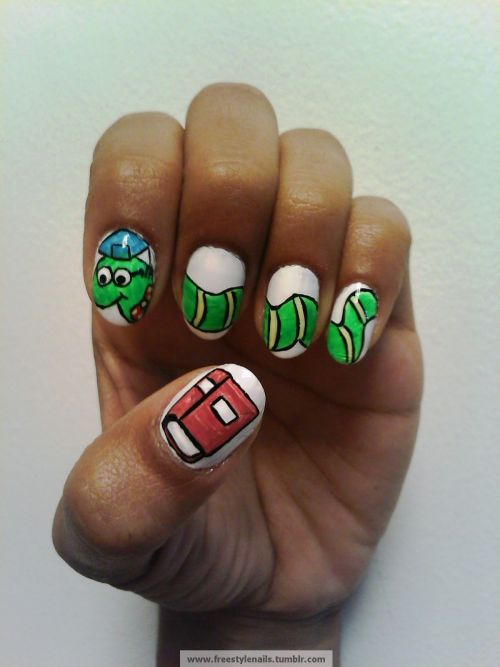 freestylenails:  In honor of all the bookworms that graduate this year. Congrats Class of 2012 Grads!!!