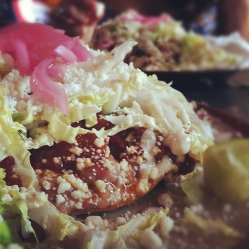 Oooh yeah! Tostada!  (Taken with Instagram at Lone Star Taco Bar)
