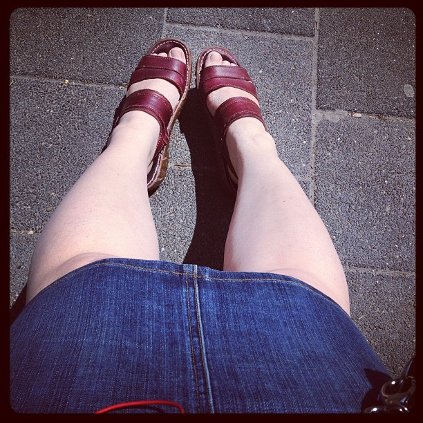 Dayglo legs (I need more sunshine) (Taken with Instagram)