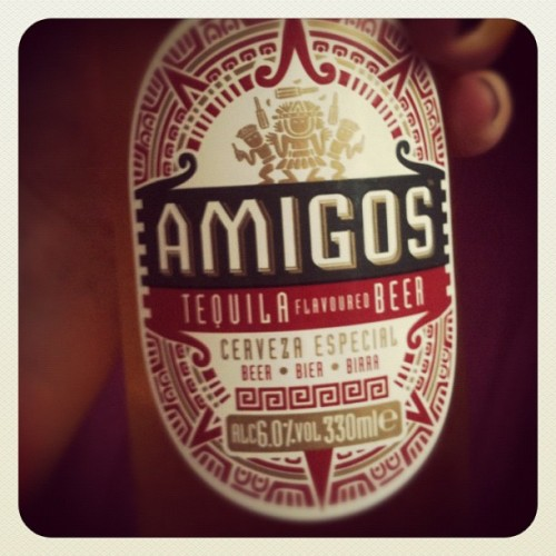 Mmmmm tequila flavoured beer #beer #drink #tequila #alcohol #amigos #yummy (Taken with Instagram)