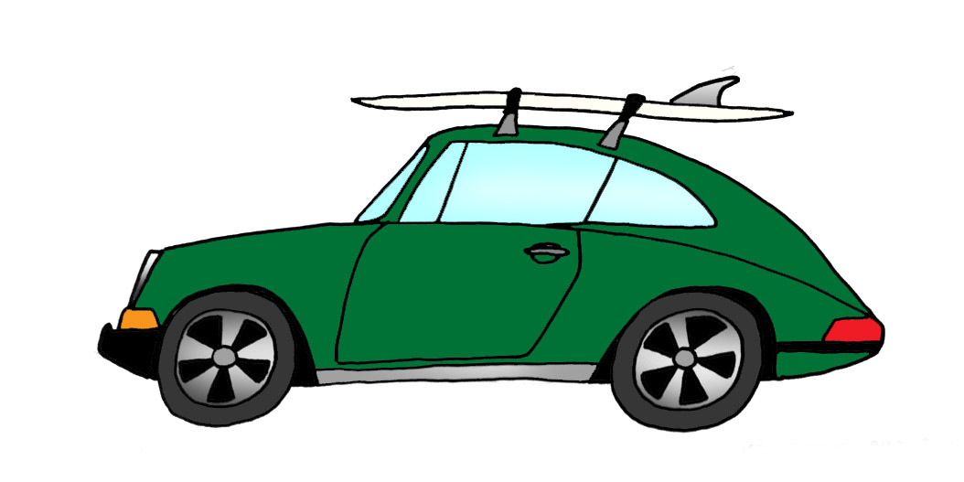 Rad Cars With Rad Surfboards On Them