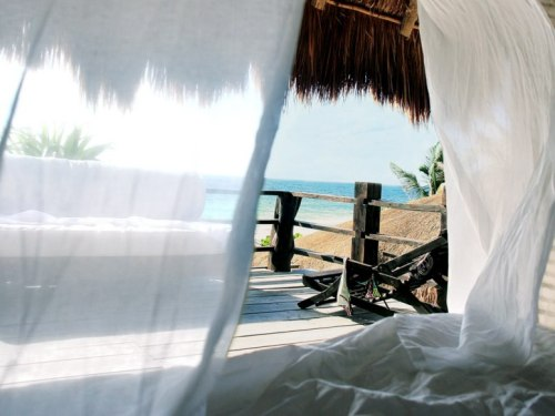 condenasttraveler:  Room With a View | Playa Mambo, Tulum, Mexico