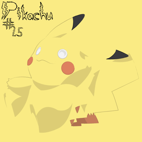"This one had me nervous. Pikachu, being ""the"" Pokemon and all. Everyone knows who he is, what he looks like, and I am sure we all remember all the time we spent in Viridian Forest trying our damnedest to catch one so we could be like Ash. I think with this one I have done an alright job, it looks cute, the font looks cute, and overall the illustration is cute. Anywho…this is an illustration of Pikachu done in Illustrator using the pen and brush tools. The font ""Lightning Strike"" was designed by Ruark Brumbaugh and downloaded from dafont.com.  Pikachu, without a doubt, is property of © Nintendo"
