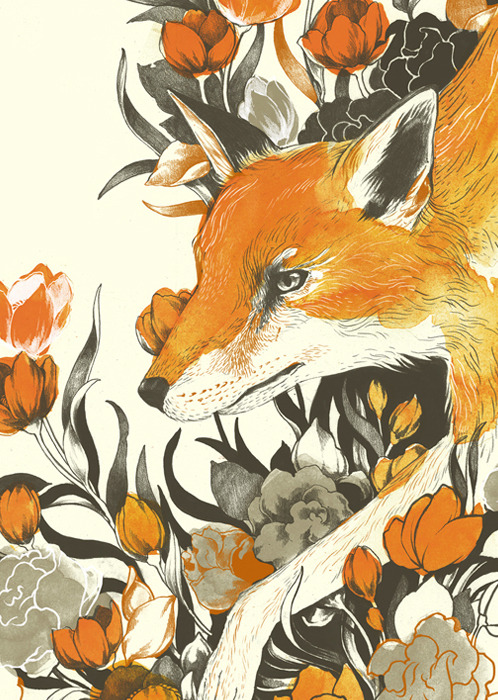 mojoatx:  more foxness by Teagan White! Weee!
