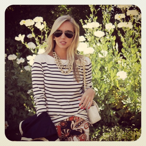 When patterns collide… New post on SF Blonde !! XO