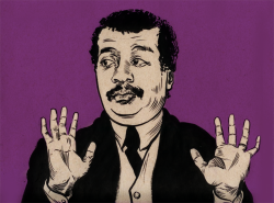 ghillustration:  Raise the roof Neil Degrasse Tyson… Raise it… Portrait of @neiltyson
