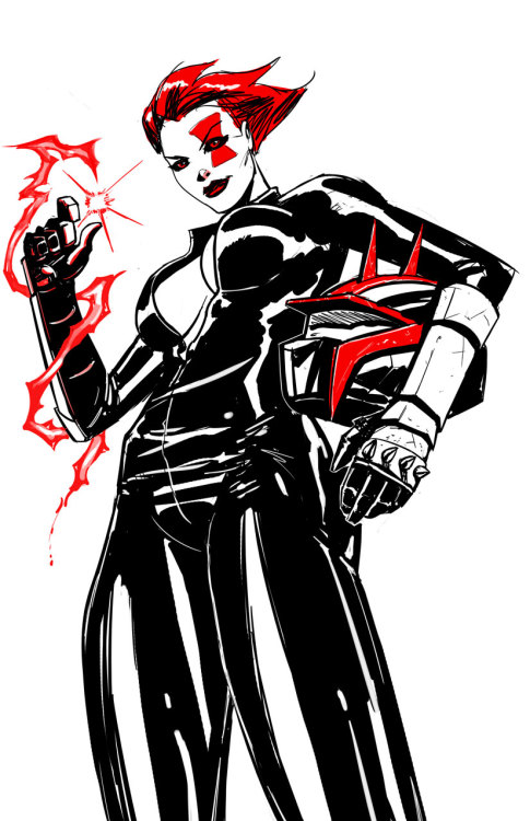 barryjkelly:  I caved and drew fem Red. Uhhh….. TEXASSSS! - Barry