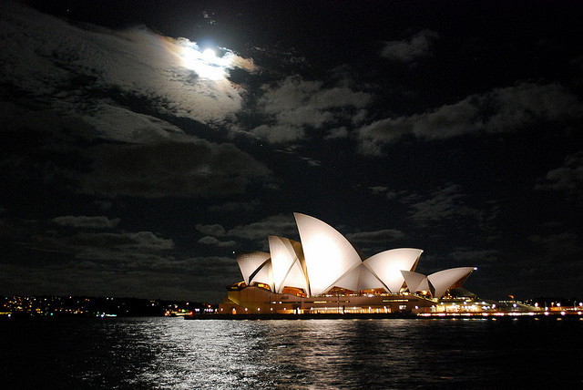 sydney opera house at night by mackenzie and john on Flickr.