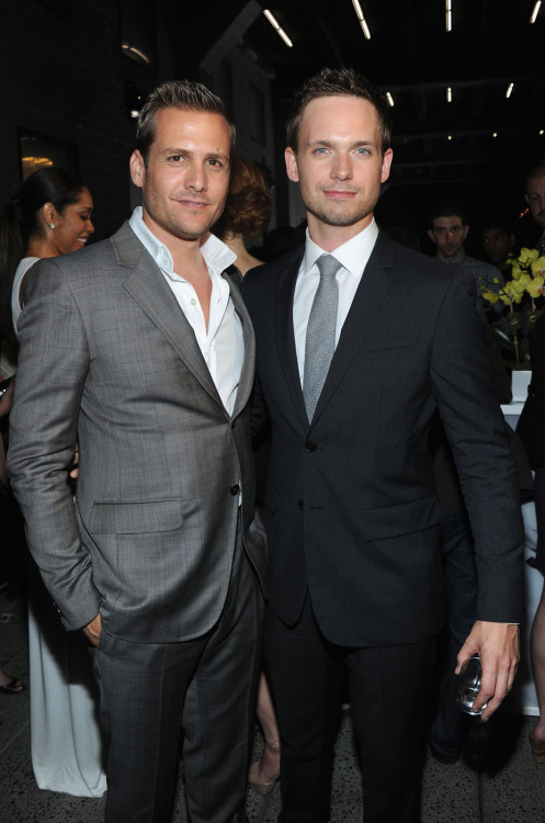verysherry:  Gabriel Macht and Patrick J. Adams | 'A Suits Story' presented by USA Network in NY - June 12, 2012  God! The comeback episode of Suits was amazing! I missed the undeniable chemistry of the whole cast. Mike-Harvey bromance, Donna and Harvey's sexual tension, Lewis and even Trevor and Jenny. So excited that I have this season again!