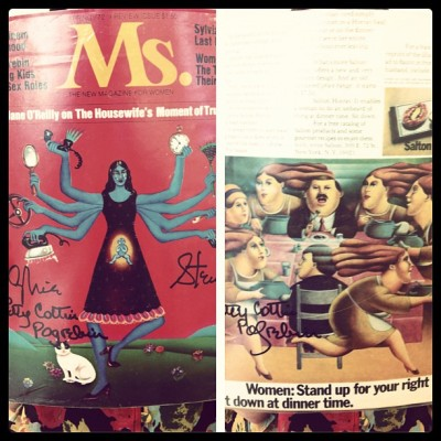 #throwback the very first issue of @gloriasteinem @MsMagazine! (Taken with Instagram at charitybuzz)
