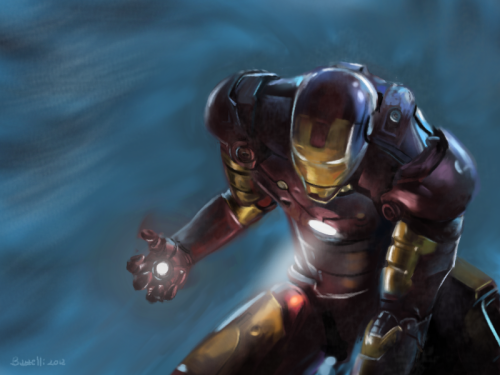 creaturesfromdreams:  Iron Man speedpainting by ~buzzelliArt —-x—- More: | Marvel | Random |