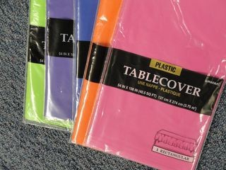 classroomcollective:  Plastic tablecovers for Bulletin Boards. They are bright year to year without fading, and it saves some trees.
