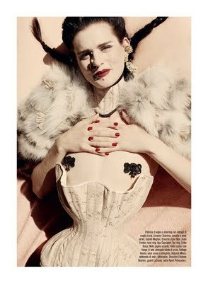 Magazine: Vogue Italia Issue: September 2011Editorial: The Discipline of FashionModel: Stella TennantPhotographer: Steven MeiselStyling: Karl Templer