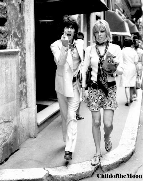 Keith Richards & Anita Pallenberg.