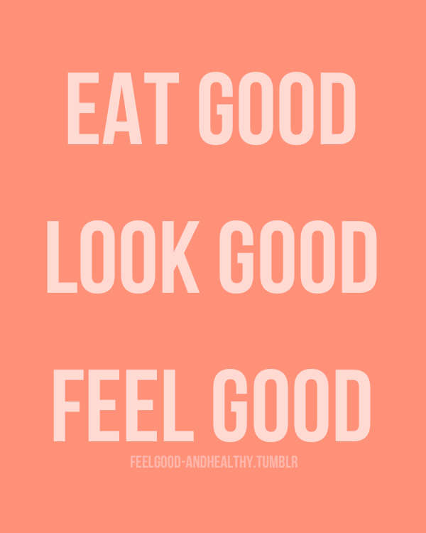 When you eat right, your body feels right.