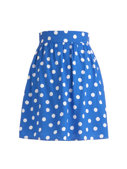 Style up your summer wardrobe with a cute mini-skirt, like this bright blue polka dot piece from ModCloth. Check out more pretty picks here »