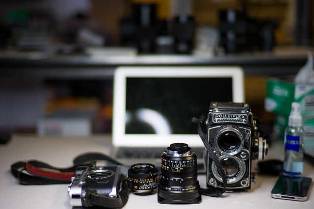 At work trying the Carl Zeiss Sonnar 50/1.5 on a Leica M9.