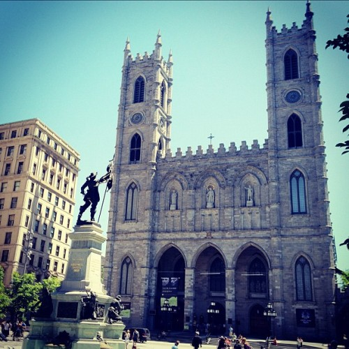A beautiful day at Place d'Armes (Taken with Instagram)