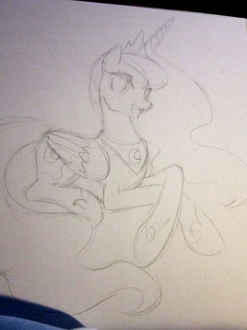 Yes a penciled/inked/and colored Luna will be available for Brony Con. There will be only one of these.
