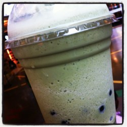 Bubble Tea - Green Tea #bubbletea #greentea #coconut #tapioca #drink #cold #random  #follow #instagrammer #igers #instagood #igdaily #iphonesia #iphoneonly  (Taken with Instagram at Palisades Center Mall)