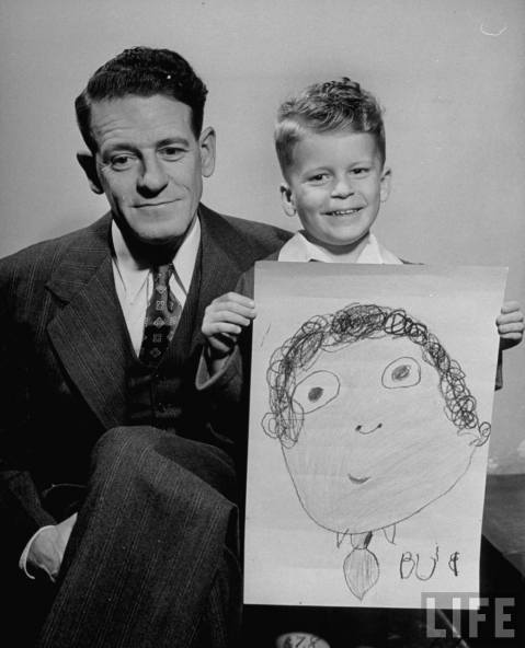 Drawing Dad, 1949