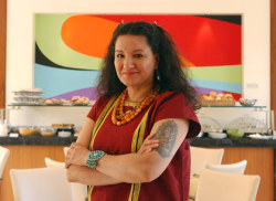 My Sandra Cisneros Cover Story Profile On the 25th anniversary of the publication of The House on Mango Street, Chicana literary icon Sandra Cisneros reveals her life's passions, and how she is nurturing a new generation of writers.| Read Read an extended Q and A with Cisneros, where she discusses the pivotal role her novel played in the acceptance of Latino culture, her years as an academic migrant, and more.| Read