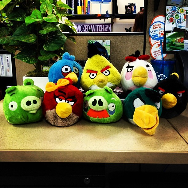 Our new department Angry Birds we all won! :) #wootwoot #AngryBirds (Taken with Instagram)
