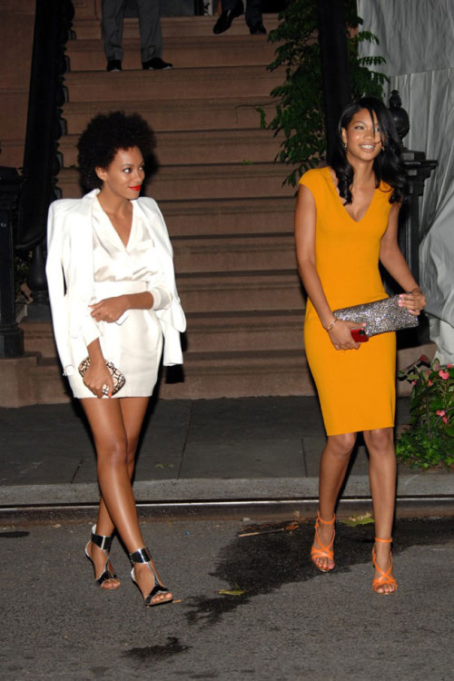 justfashion92:  Solange Knowles and Chanel Iman @ The Obama Fundraiser