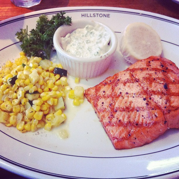 Wild Salmon for lunch  (Taken with Instagram at Hillstone)