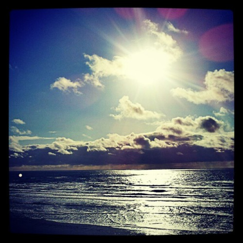 So much fun! #beach #sky #sunset #horizon #ocean (Taken with Instagram)