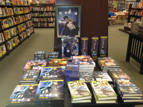 There's a Doctor Who display at my local Barnes and Noble!