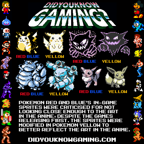 didyouknowgaming:  Pokemon Red, Blue and Yellow.
