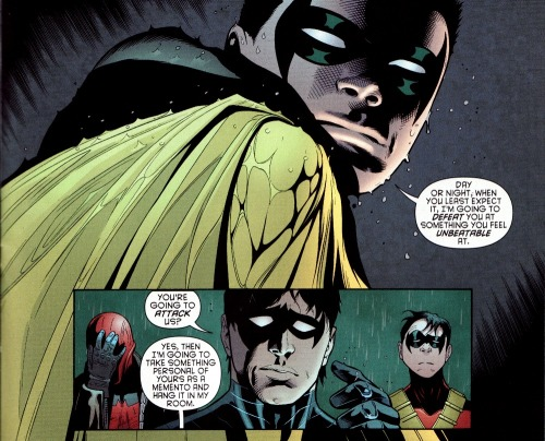 Oh that Damian… he's so cute when he's being a sociopath towards his brothers.