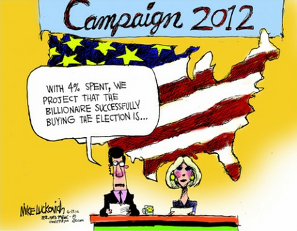 Cartoon of the day: The money race MIKE LUCKOVICH © 2012 Creators Syndicate
