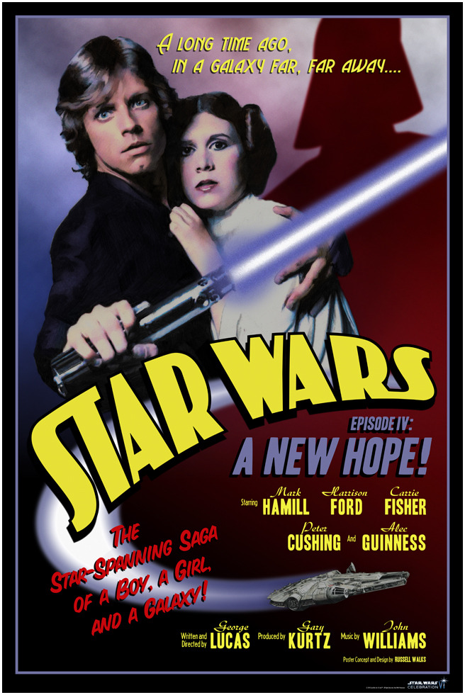 russellwalks:  Star Wars: 1937Art for Star Wars Celebration VI24 x36, Limited to 250 Pieces$35.00