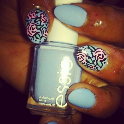#Essie bikini so teeny is looking real popular for summer ladies.. #nails #nailpolish #nailart #nailartclub #summer #pretty #girls #blue #pink #Brooklyn #nyc  (Taken with Instagram)