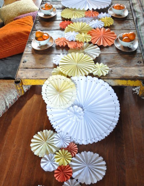 DIY Pinwheel Table Runner