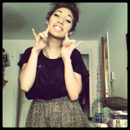 l0vesaf:  Looking like a blasian \m/ (Taken with Instagram)