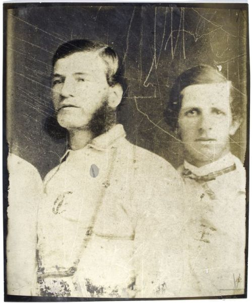 We swear this is an actual historic photograph (c. 1860), not an Instagram filter — No one would cultivate such amazing sideburns in this day and age. Happy Mustache Monday! Here's what 19cBaseball.com has to say about the subject:  Joseph B. Leggett, Captain of the famed Brooklyn Excelsiors. Leggett was one of the early baseball stars in the 1850s and was the catcher for the Brooklyn All-Star Club which lost to the New York All-Star Club on July 20, 1858 in the first of three Great Base Ball Matches. Because of his play and sure hands, pitcher Jim Creighton was able to throw his overpowering fast balls. Leggett served in the Civil War and upon returning to New York finished his career as a short stop to compensate for the diminished strength in his throwing arm.