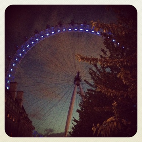The London Eye #london #thelondoneye #england #nightshot #london (Taken with Instagram)