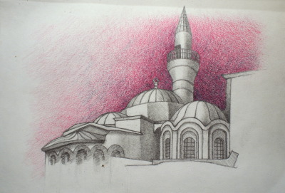sketch from Istanbul: Cora Church sheamus burns, 2012