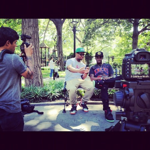 Shootin for BET🌟 in Washington Square Park #CHASE #CHEER$ #LuXrAp 👑 (Taken with Instagram)