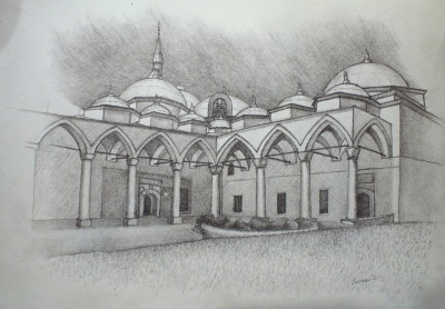 Sketch from Topkapi Palace, Istanbul sheamus burns 2012