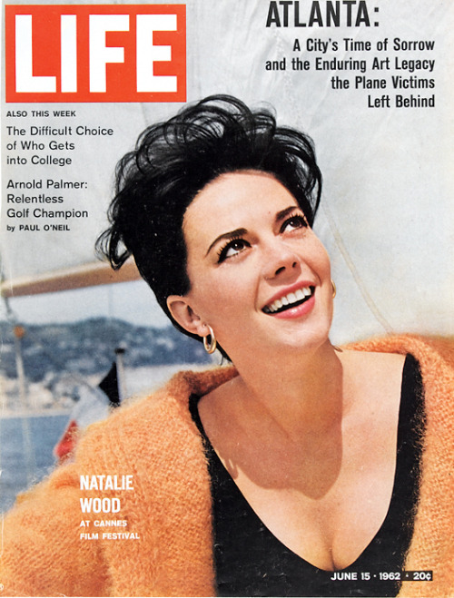 life:  On this day in LIFE Magazine — June 15, 1962: Natalie Wood at Cannes Film Festival See more photos of Natalie Wood here.