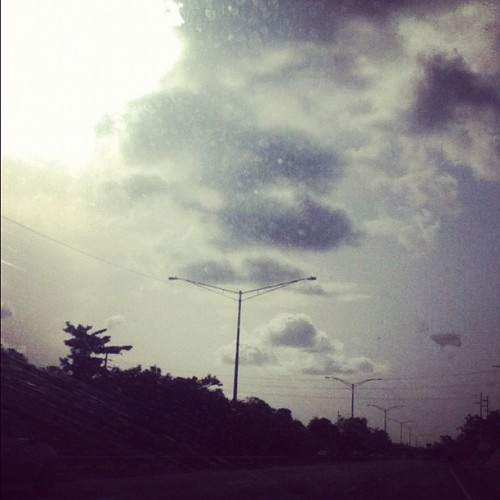 #highway #puertorico #laspiedras #instagood #instarican #clouds #sun #sunset  (Taken with Instagram)