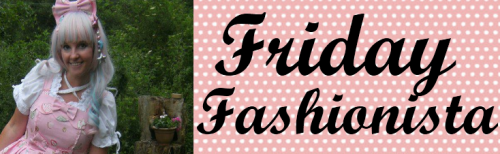 Hello everybody! Today is Friday so I hope this post gives you some fashionspiration! Meet Joanne, a lolita who is not only into collecting beautiful pieces and making pretty coords but also has her own brand called 'Rocking Horse Designs'. So let's find out more!    What I like most about Joanne's outfits are the colours! I like how she puts various colours together in a way that they complement eachother perfectly. I also like the way she matches her accessories. Above are three of my favourite outfits of hers. In the first she is wearing 'Miracle Candy' from Angelic Pretty, and she really brings out the reds in the print and carries on the candy theme with that adorable lollipop clip! I also love her 'Dreaming Macaron' coord, the yellows and pinks go really well together. And lastly, an outfit definitely fit for a Jubilee meetup!     Joanne's brand 'Rocking Horse Designs' has all types of clothes including Lolita and Fairy Kei. There are dresses, salopettes, capes, skirts and all sorts up for sale. There are also cute accessories like the Hello Kitty necklaces pictured below! Some of my favourite pieces would be this pink fairy kei pinafore and this adorable sailor-style dress. Here is the etsy so you can check out the products for yourself too.     Unfortunately next week I won't be able to post as I'll be taking some very important exams! In the meantime you can take a look at previous Friday Fashionistas if you like! Bye bye ~ ☆ミ(o*・ω・)ノ