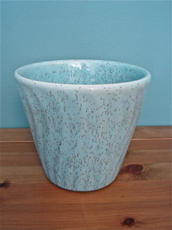 Turquoise Swirl Speckle Pottery